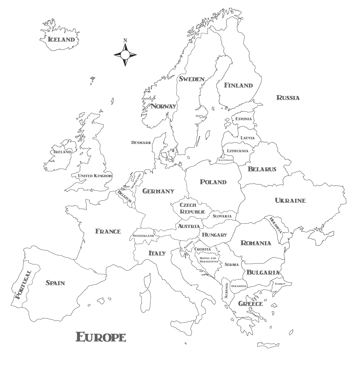 map of european states